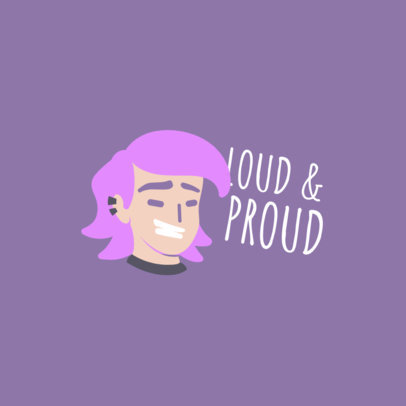 Twitch Emote Logo Template with a Fun Avatar to Commemorate Pride Month 4287c