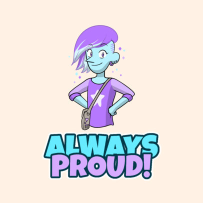Steven Universe-Inspired Twitch Emote Logo Template for Pride Month 4290b