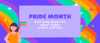 Facebook Cover Maker for Pride Month Featuring a Rainbow Background 3609a