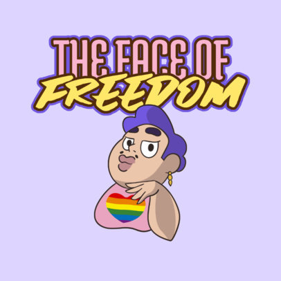 Sassy Twitch Emote Logo Maker with a Cartoon of an LGBTQ Character 4290h