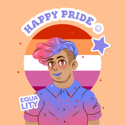 Pride Month-Themed Twitch Emote Creator Featuring an Illustrated Character 4286c