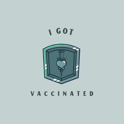 T-Shirt Design Generator Featuring a Metallic Coronavirus Vaccine Clipart 4279c