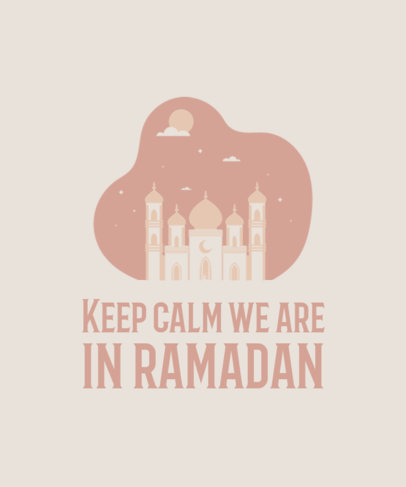 Ramadan-Themed T-Shirt Design Template Featuring a Quote and a Pastel Color Scheme 3615b