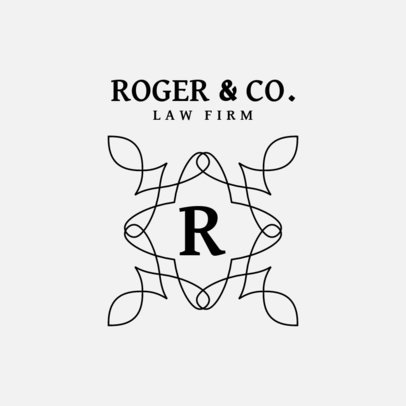 Law Firm Logo Template with a Simple Elegant Monogram 3602e-el1