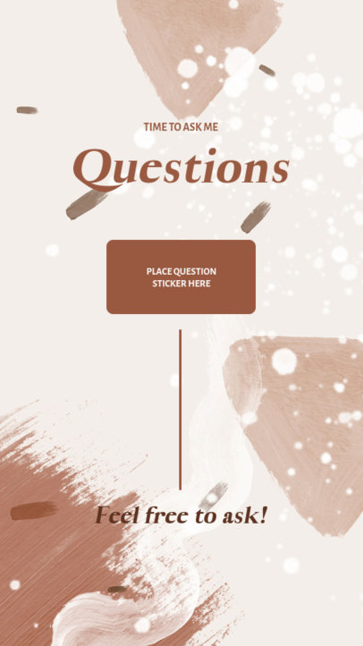 Q&A Instagram Story Maker Featuring an Abstract Background 3854-el1