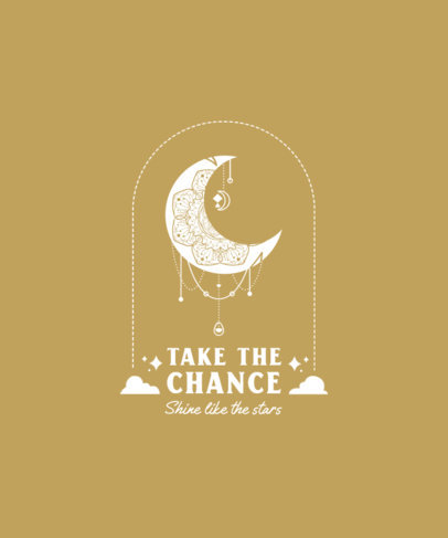 T-Shirt Design Generator With Positive Quotes and Intricate Moon Graphics 3860g-el1