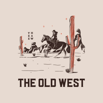 Clothing Brand Logo Maker Featuring a Wild West Aesthetic 4299