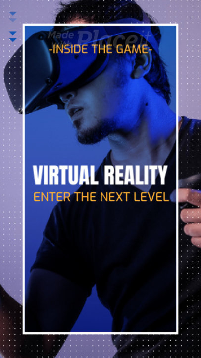 Instagram Story Video Template Featuring a VR Gaming Theme 943d 3192