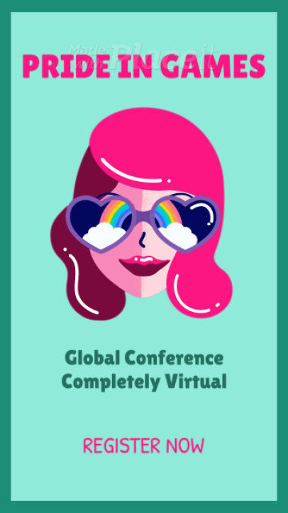 Instagram Story Video Maker to Announce a Conference About Diversity in Gaming 1533a-3189