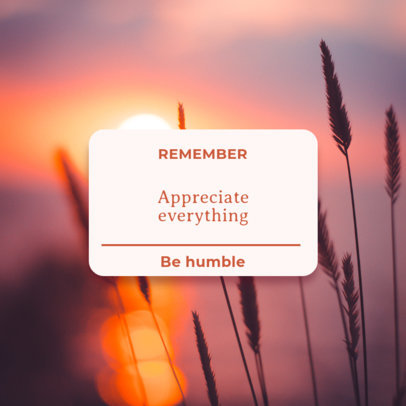 Instagram Post Generator Featuring a Reminder With a Gratitude Message 3478e-el1