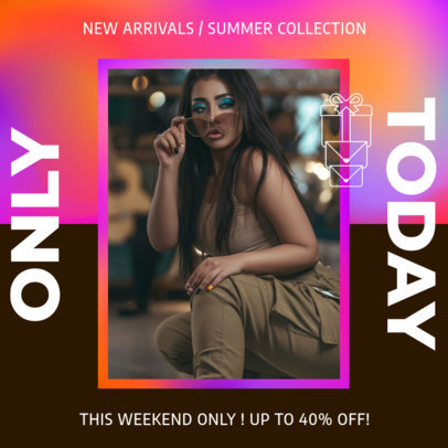 Instagram Post Generator With a Fashion Theme and a Colorful Frame 3631a