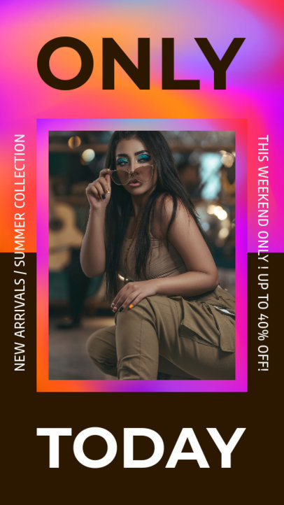 Instagram Story Maker With a Fashion Theme and a Colorful Frame 3631a