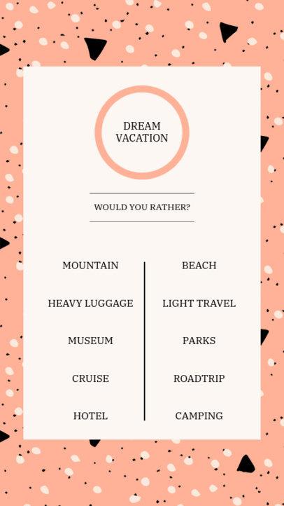 Instagram Story Design Creator with a Quiz Layout 3850e-el1