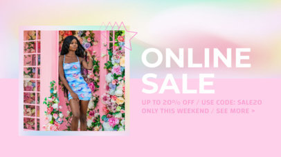 Youtube Thumbnail Template for a Fashion Flash Sale Featuring a Pastel Color Palette 3631j