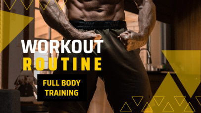 YouTube Thumbnail Design Maker to Share a Workout Routine 3633a