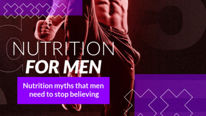 Fitness-Themed YouTube Thumbnail Design Maker Featuring Nutrition Tips 3633e