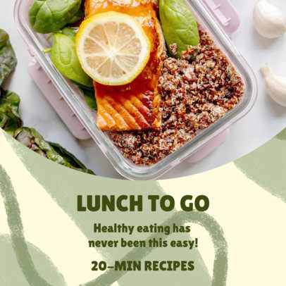 Instagram Post Design Generator to Promote Healthy Eating 3632d
