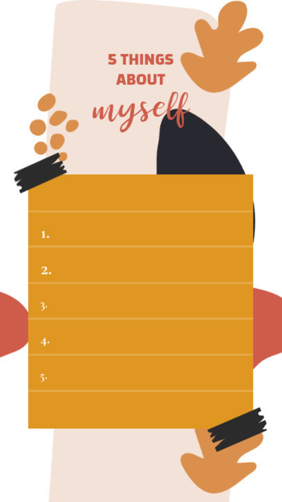 Instagram Story Maker With an Illustrated Background and a Customizable List Layout 3848e-el1