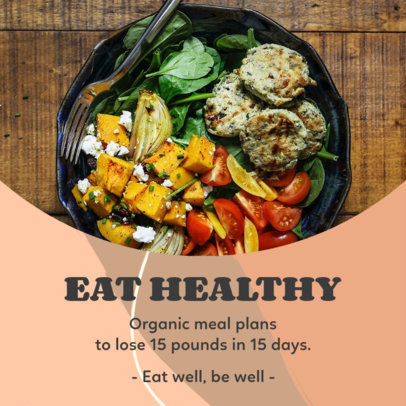 Instagram Post Design Generator Featuring a Healthy Meal  3632a