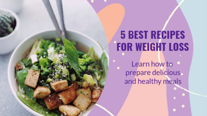 YouTube Thumbnail Design Template Featuring Weight Loss Recipes 3632b