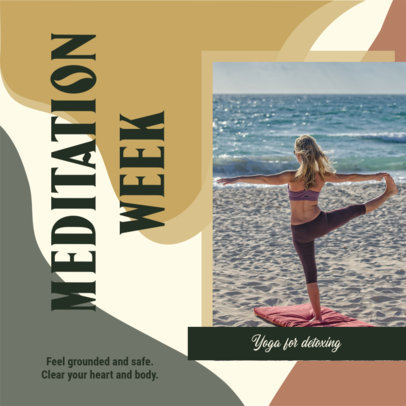 Instagram Post Template With a Yoga & Meditation Theme 3636d