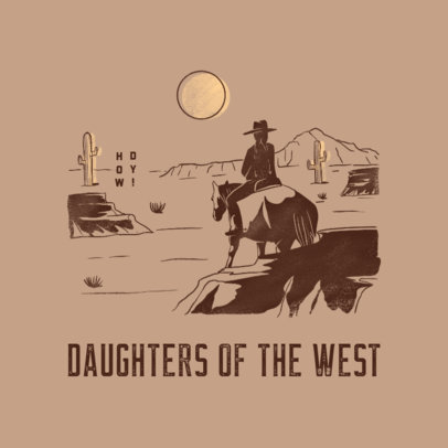 Streetwear Logo Maker Featuring an Illustration of a Cowboy 4299b
