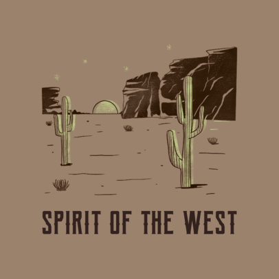 Wild West-Inspired Logo Generator Featuring an Illustration of a Desert 4299f