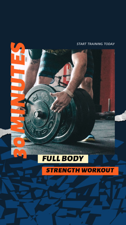 Instagram Story Design Maker with a Strength Workout Routine 3635a