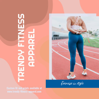 Instagram Post Generator for Sportswear Brands Featuring an Abstract Background 3636c