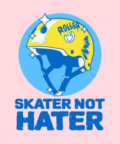 Fun T-Shirt Design Template with a Skate Theme 3630a
