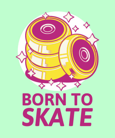 T-Shirt Design Generator with Roller Skating-Themed Graphics 3630c
