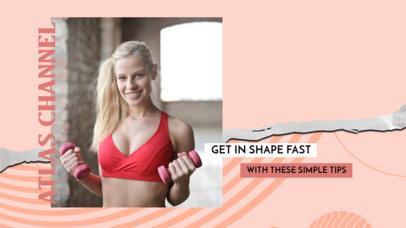 YouTube Thumbnail Design Template Featuring Fitness Tips and a Modern Style 3536f