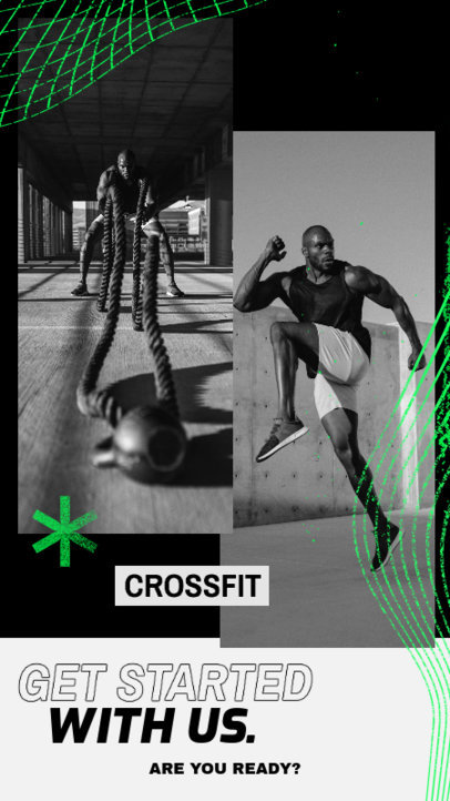 Instagram Story Design Template for a Crossfit Gym 3637d