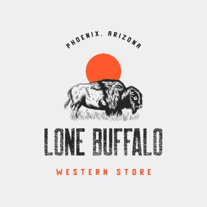 Apparel Brand Logo Generator Featuring a Vintage Buffalo Graphic 4295b