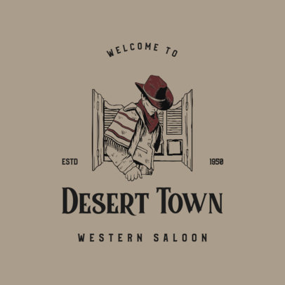 Logo Creator for a Western Saloon Featuring Cowboy Graphics 4295d