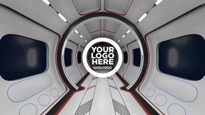 Logo Intro with Futuristic Hallway Looped Animation a212