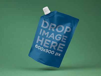 Packaging Mockup of a Soap Bag Over a Solid Backdrop a6884