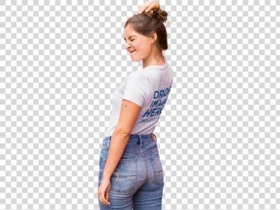 T-Shirt Mockup of a Trendy Girl Winking b11850