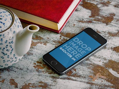 Apple iPhone 5s Grey Portrait Tea Potter