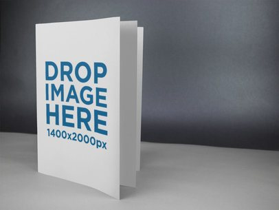 Booklet Mockup in a Grey Room a14599