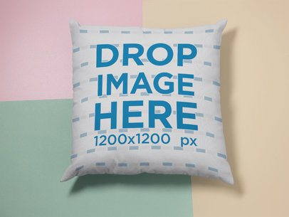 Square Pillow Template Lying on a Surface with Three Colors a15119